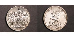 2 Mark Royaume de Prusse (1701-1918) Argent