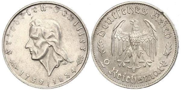 2 Mark Troisième Reich (1933-1945) Argent