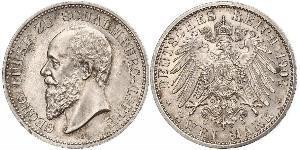 2 Mark Lippe (1123 - 1918) Argento Giorgio di Schaumburg-Lippe