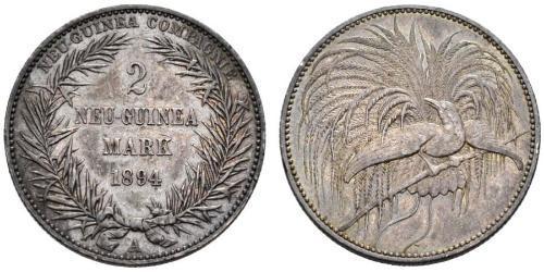 2 Mark Nuova Guinea Argento