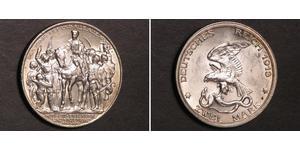 2 Mark Regno di Prussia (1701-1918) Argento