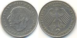 2 Mark Geschichte der Bundesrepublik Deutschland (1949-1990) Kupfer/Nickel