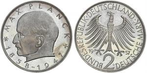 2 Mark Alemania Occidental (1949-1990) Plata
