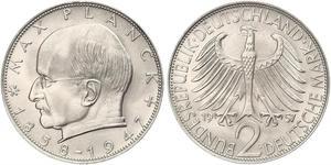 2 Mark Alemania Occidental (1949-1990) Plata