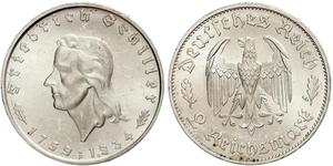 2 Mark Alemania nazi (1933-1945) Plata