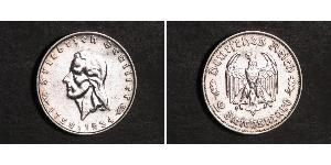 2 Mark Alemania nazi (1933-1945) Plata