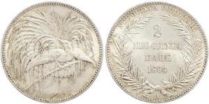2 Mark Nueva Guinea Plata