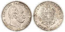 2 Mark Königreich Preußen (1701-1918) Silber Wilhelm I, German Emperor (1797-1888)