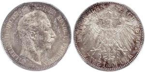 2 Mark Königreich Preußen (1701-1918) Silber Wilhelm II, German Emperor (1859-1941)
