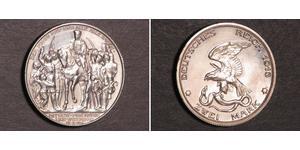 2 Mark Königreich Preußen (1701-1918) Silber