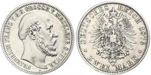 2 Mark Mecklenburg-Schwerin (1352-1918) Silber Friedrich Franz II. (Mecklenburg)