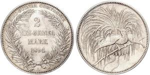 2 Mark Neuguinea Silber
