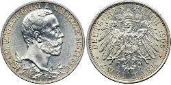 2 Mark Schwarzburg-Sondershausen (1599-1920) Silber