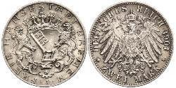 2 Mark Bremen (state) Silver