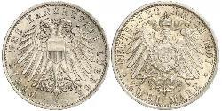 2 Mark Free City of Lübeck Silver