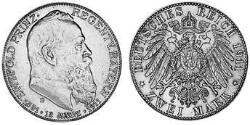 2 Mark Kingdom of Bavaria (1806 - 1918) Silver Otto of Bavaria (1848 – 1916)