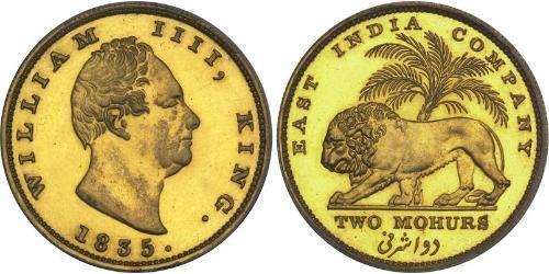2 Mohur British East India Company (1757-1858) Gold William IV (1765-1837)