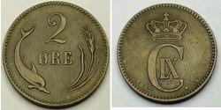 2 Ore 丹麦 青铜