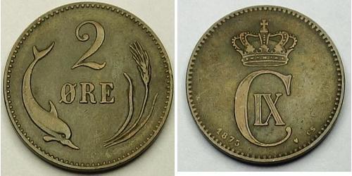 2 Ore Dinamarca Bronce