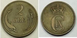 2 Ore Dänemark Bronze