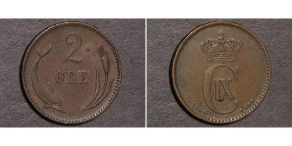 2 Ore Denmark Bronze