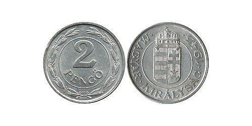 2 Pengo Ungarn (1989 - ) Aluminium