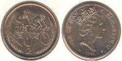 2 Penny Isle of Man Bronze