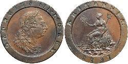 2 Penny Reino de Gran Bretaña (1707-1801) Cobre Jorge III (1738-1820)