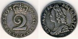 2 Penny United Kingdom Silver