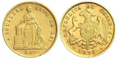 2 Peso 智利 金