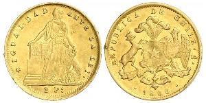 2 Peso Chile Gold