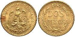 2 Peso Mexiko (1867 - ) Gold