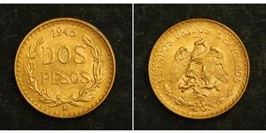 2 Peso United Mexican States (1867 - ) Gold