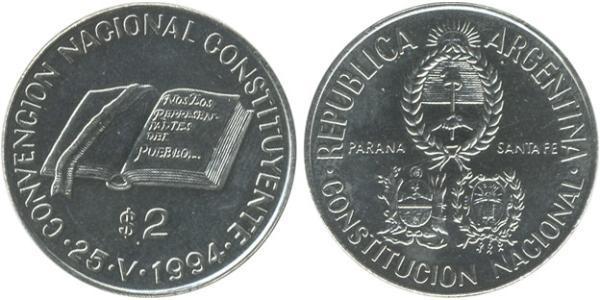 2 Peso Argentine Republic (1861 - ) Nickel