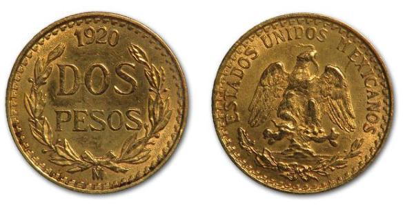 2 Peso Mexique (1867 - ) Or