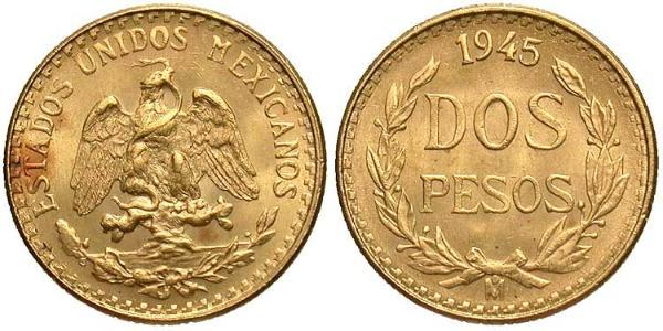 2 Peso Mexique (1867 - ) Or