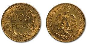 2 Peso México (1867 - ) Oro