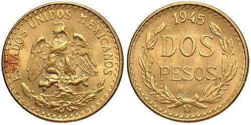2 Peso Messico (1867 - ) Oro