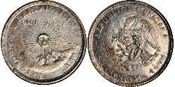 2 Peso United Mexican States (1867 - ) Silver