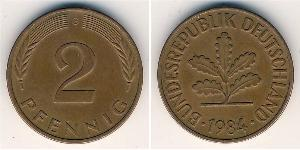 2 Pfennig West Germany (1949-1990) Bronze