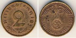 2 Pfennig Germania nazista (1933-1945) Bronzo