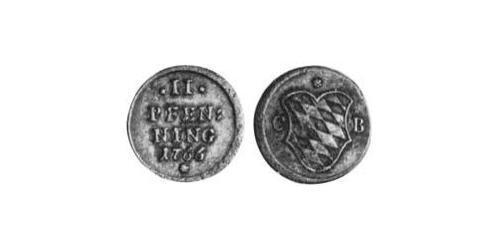 2 Pfennig Electorate of Bavaria (1623 - 1806) Copper Maximilian III Joseph, Elector of Bavaria (1727 – 1777)