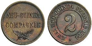 2 Pfennig German Empire (1871-1918) / New Guinea Copper