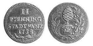 2 Pfennig Imperial City of Augsburg (1276 - 1803) Copper