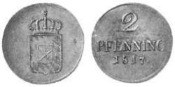 2 Pfennig Kingdom of Bavaria (1806 - 1918) Copper