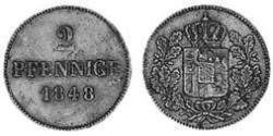 2 Pfennig Königreich Bayern (1806 - 1918) Kupfer Ludwig I. (Bayern)(1786 – 1868)