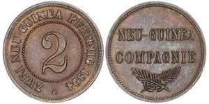2 Pfennig Nuova Guinea / Impero tedesco (1871-1918) Rame