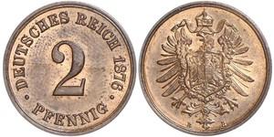 2 Pfennig Alemania