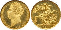 2 Pound United Kingdom of Great Britain and Ireland (1801-1922) Gold George IV (1762-1830)