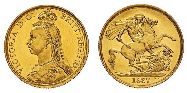 2 Pound Vereinigtes Königreich Gold Victoria (1819 - 1901)